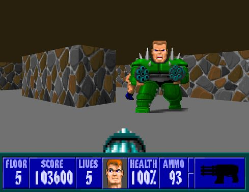 Wolfenstein 3D: Spear of Destiny Играть Онлайн