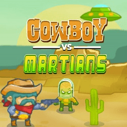 Cowboy VS Martians Play online
